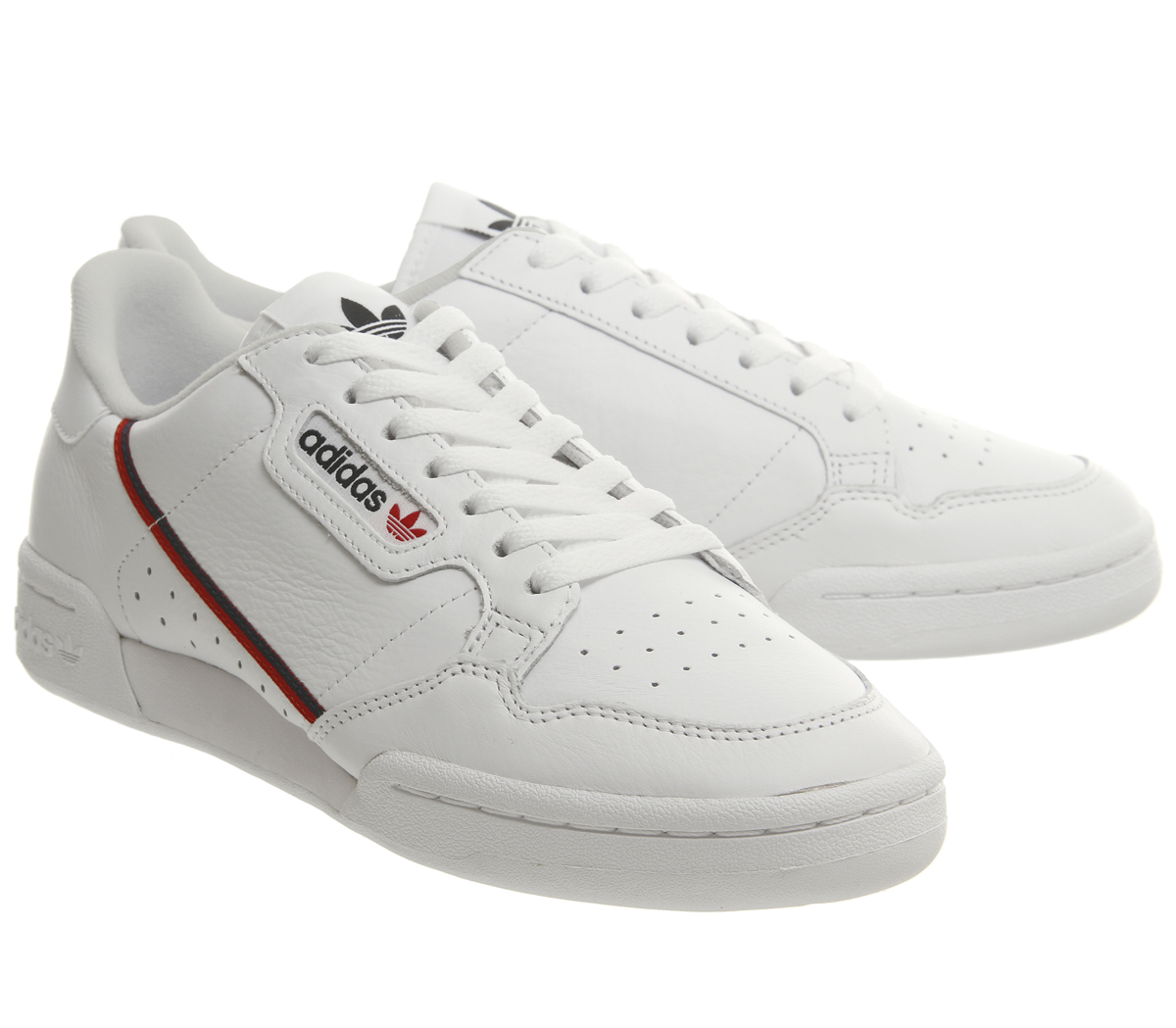 5c50b61024 Adidas Continental 80's Trainers WHITE SCARLETT COLLEGIATE NAVY ...
