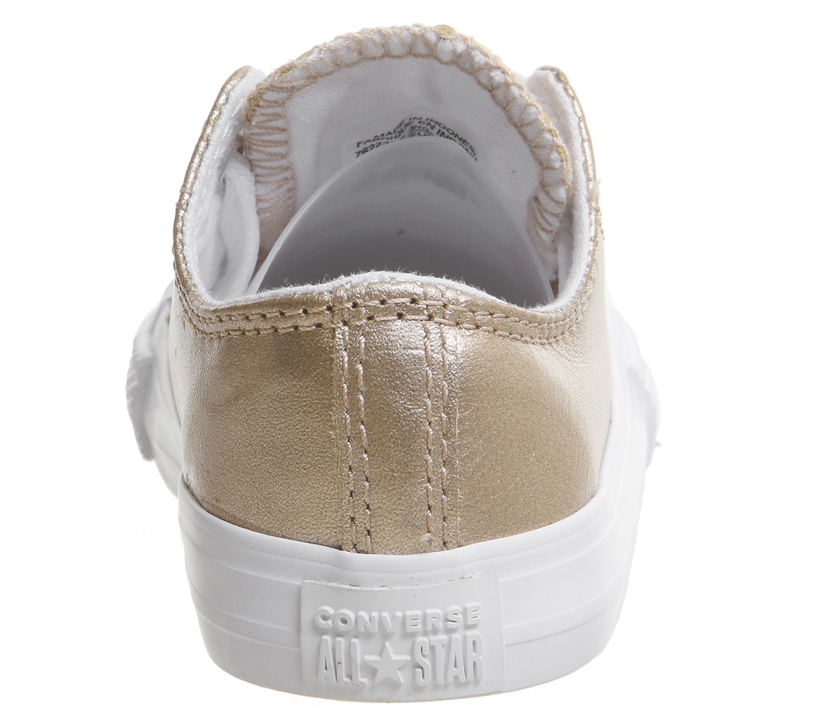7c9002dbec071e Kids Converse All Star Ox Leather Infant Rose Gold Metallic ...