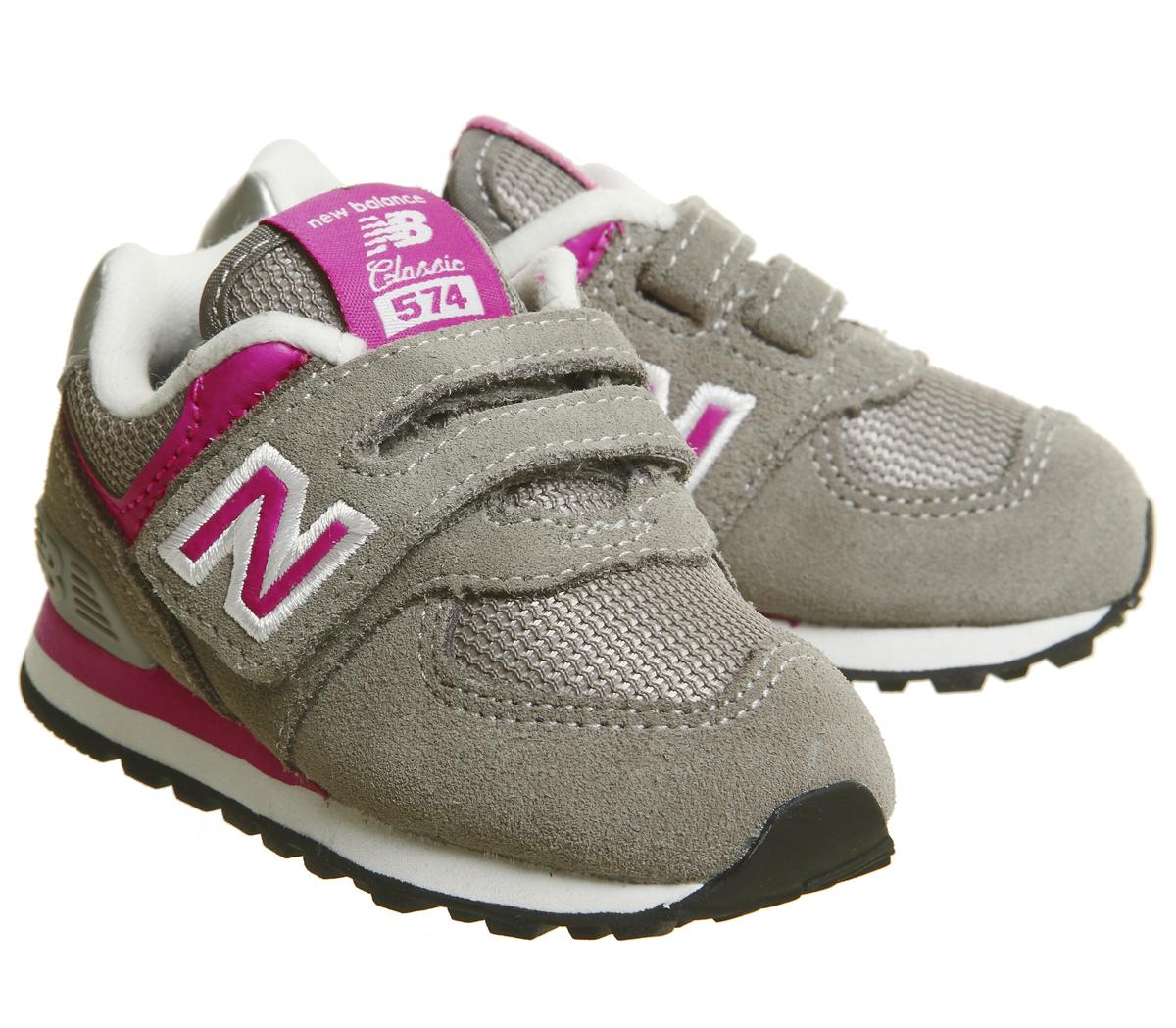 SENTINEL Bambini nuovi equilibrio 574 neonato grigio grigio rosa bambini 4645725369c