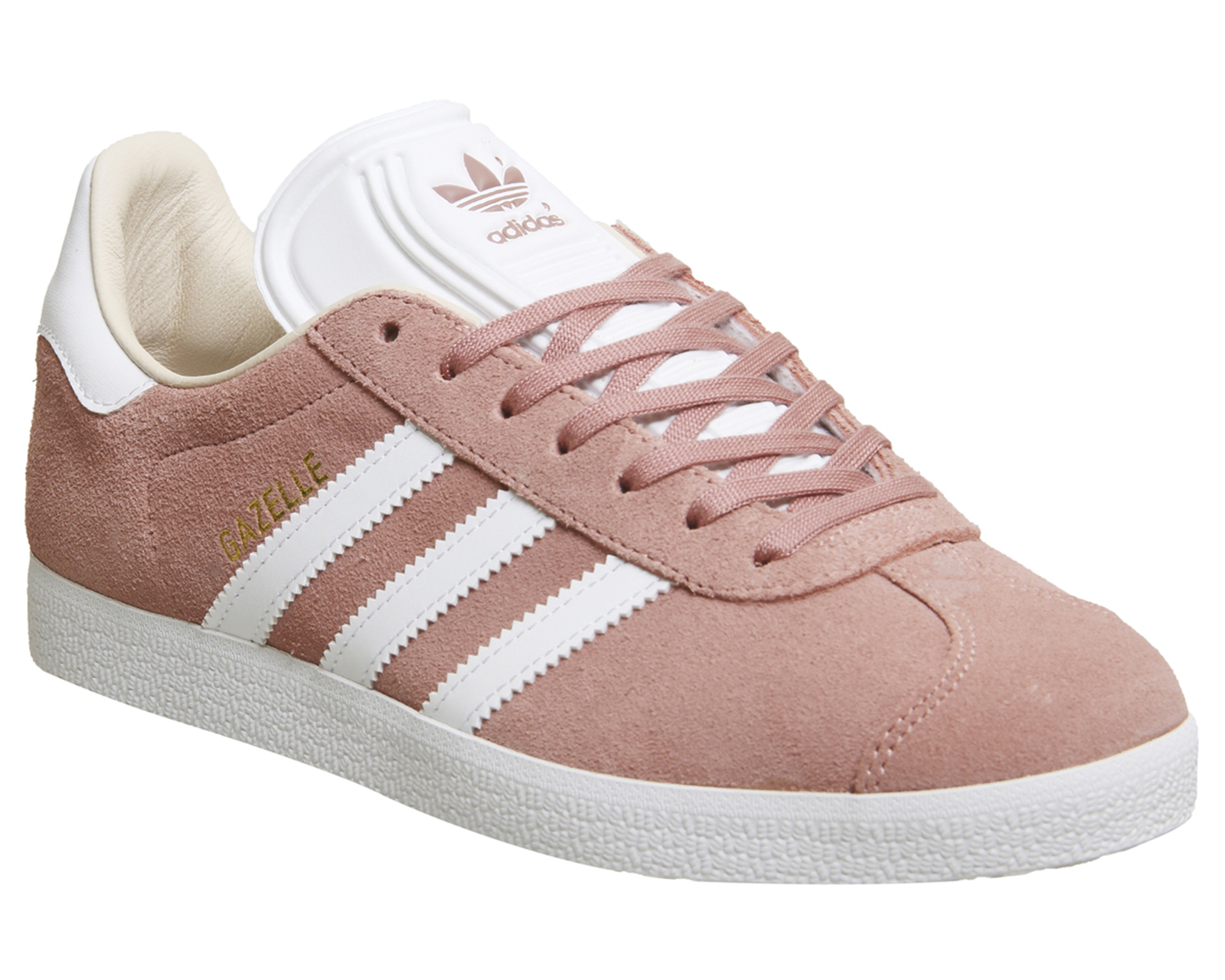 buy popular 79ff9 9e1ff Sentinel Womens Adidas Gazelle Trainers ASH PEARL WHITE Trainers Shoes.  Sentinel Thumbnail 2