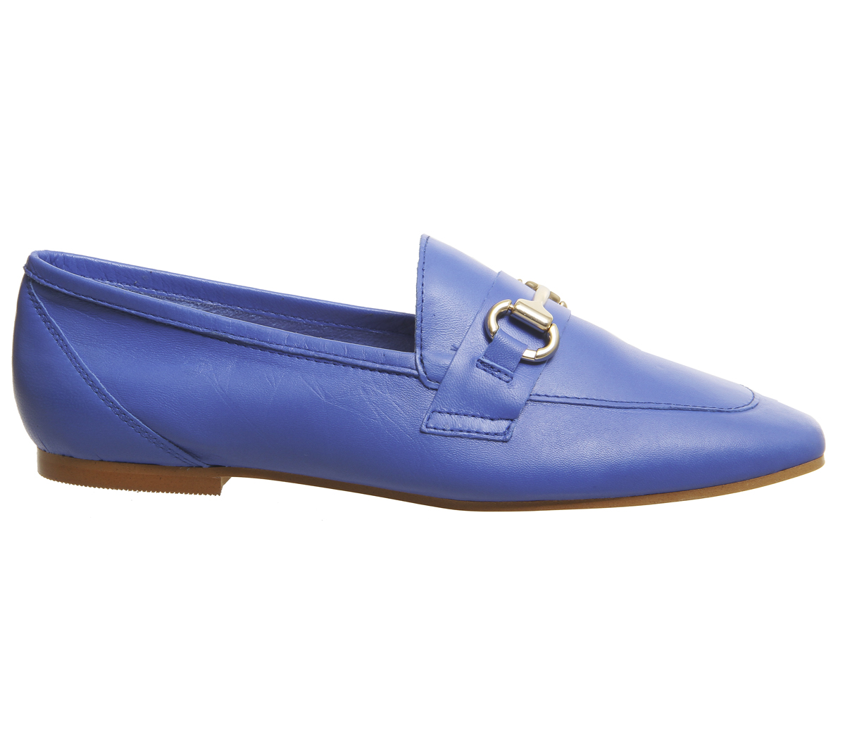 Destiny Loafers Trim Leather Blue Flats Office Womens Ozq4UnSz