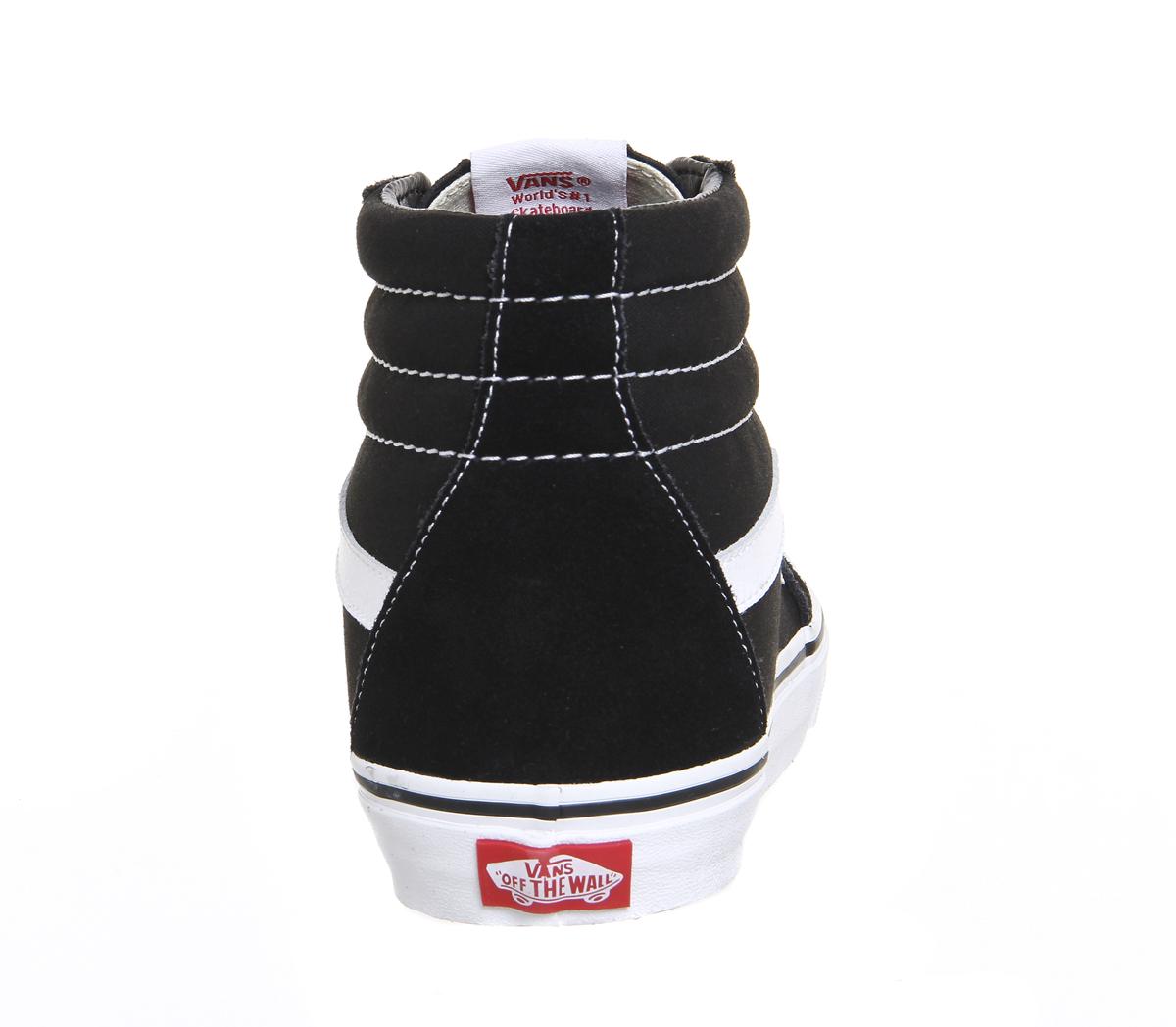c1714f8772d Chaussures Femme Vans Sk8 Hi Noir Blanc Toile Baskets Chaussures
