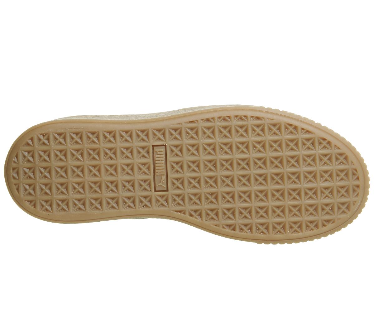 c6aa075c96ba3 SENTINELLE Womens Puma Suede plates-formes d OLIVE argent gomme formateurs  chaussures