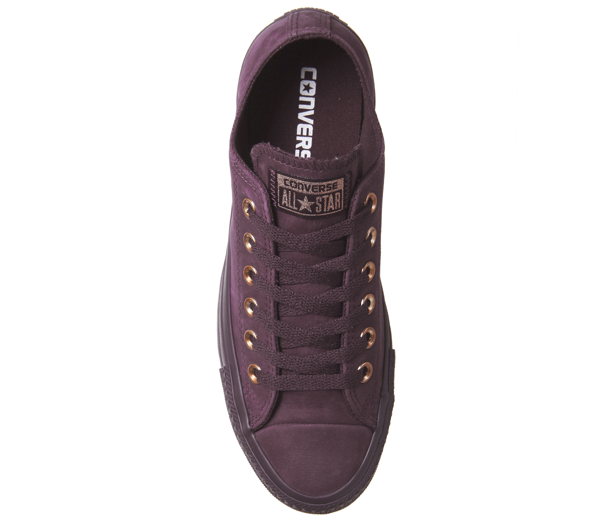 fe4bae45f779c5 Womens Converse All Star Low Leather DARK SANGRIA ROSE GOLD EXCLUSIVE  Trainers S