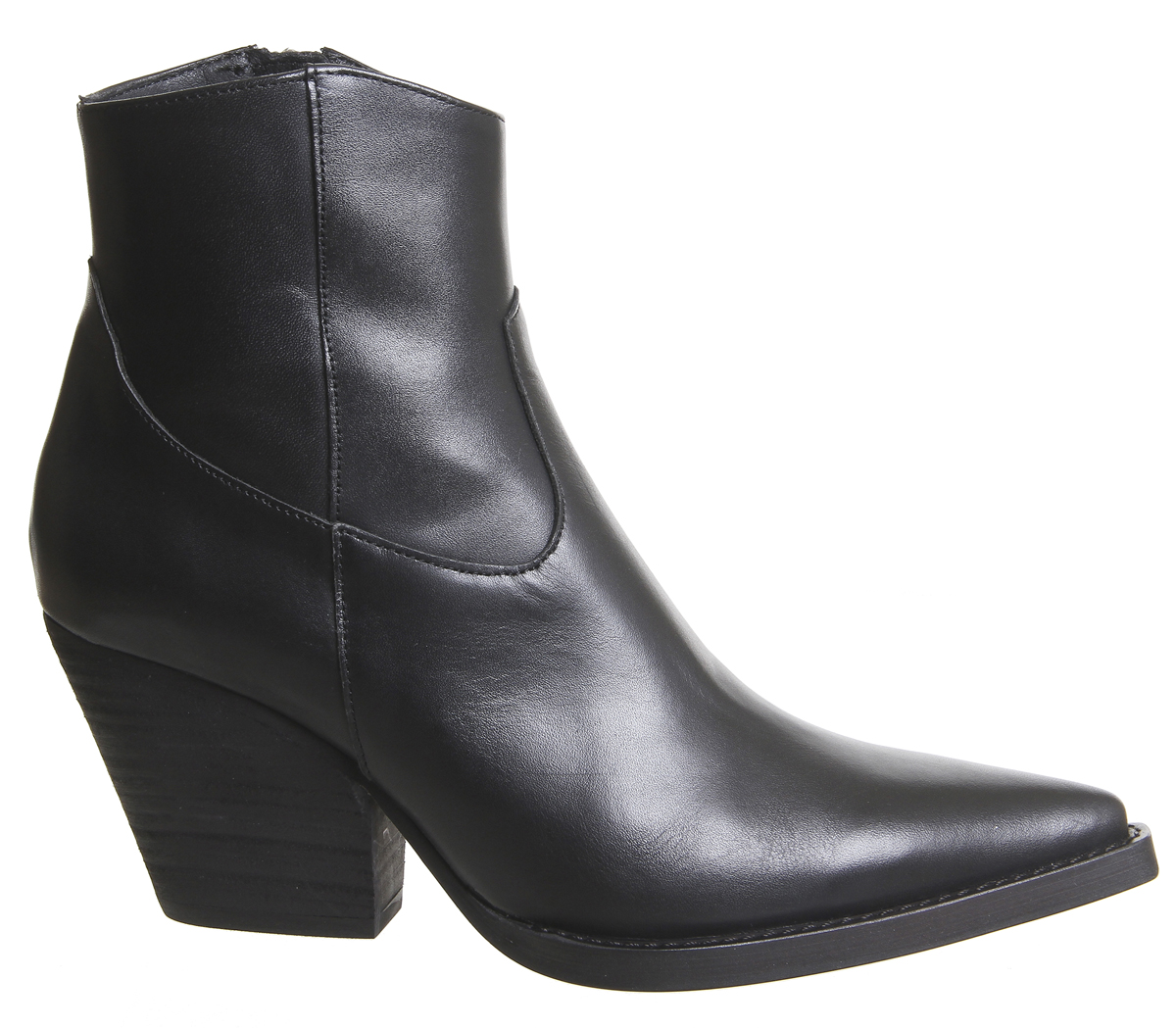 Botas para mujer extremo oeste de oficina arriba Botas De Cuero Negro