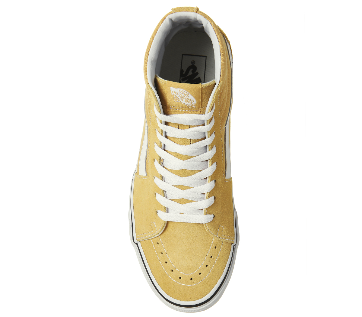 f3d9b37e8573b7 Mens Vans Sk8 Hi Trainers OCHRE TRUE WHITE Trainers Shoes