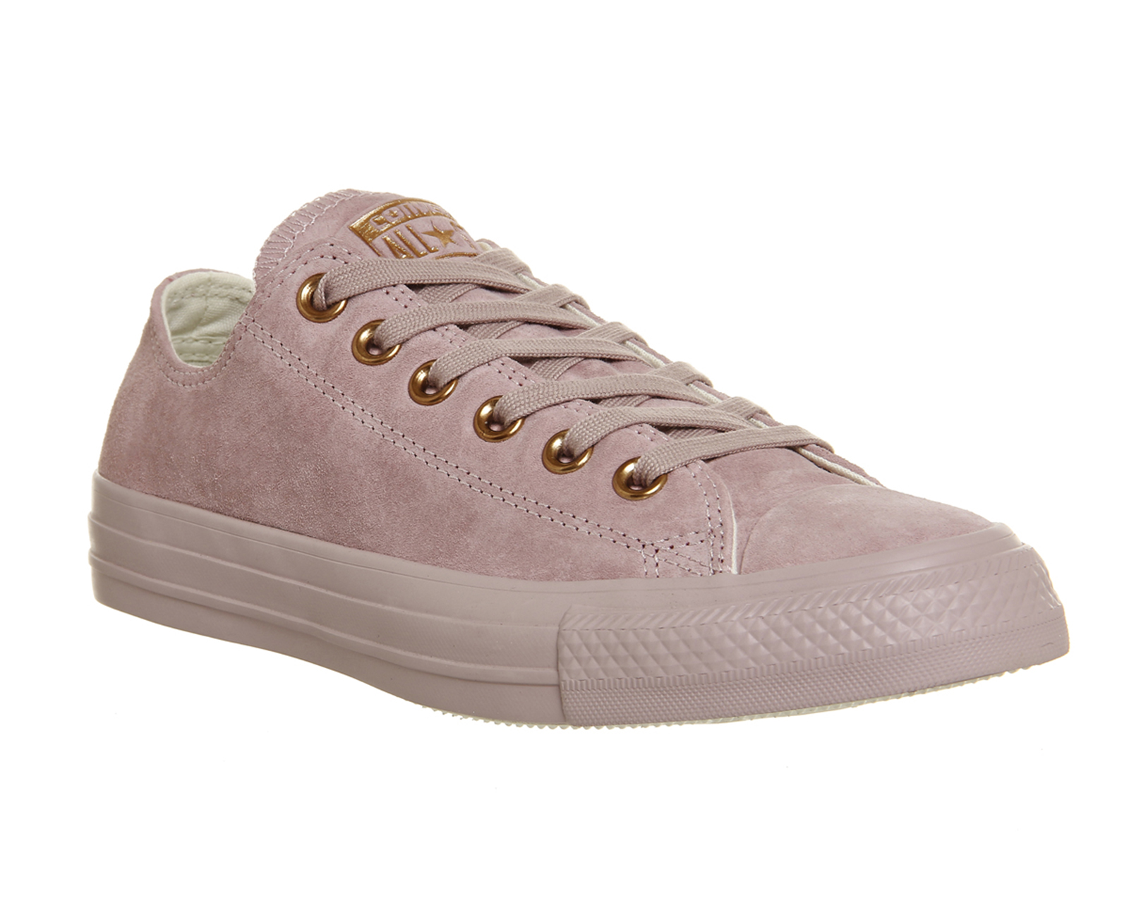 converse rose gold suede