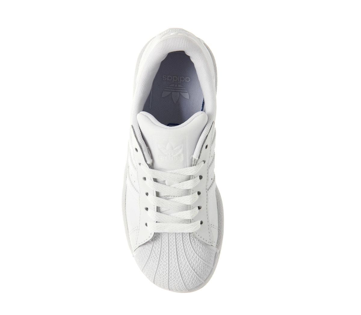 low priced footwear sale Details zu Kinder adidas Superstar Kinder 10-2 Weiß Mono Spitze Kinder