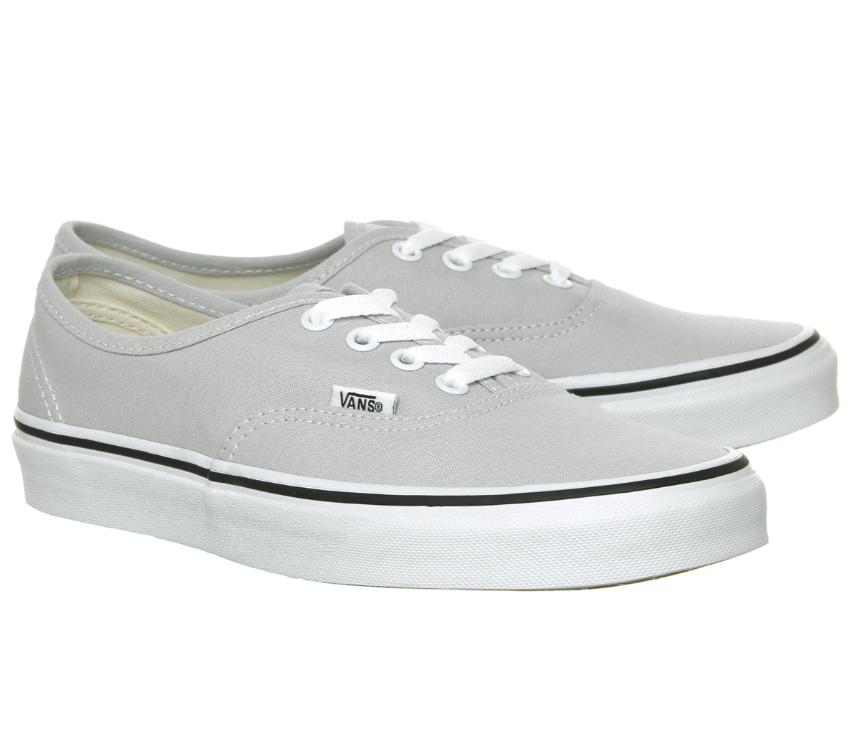 704adb7c21a7 Sentinel Womens Vans Authentic Trainers Gray Dawn True White Trainers Shoes