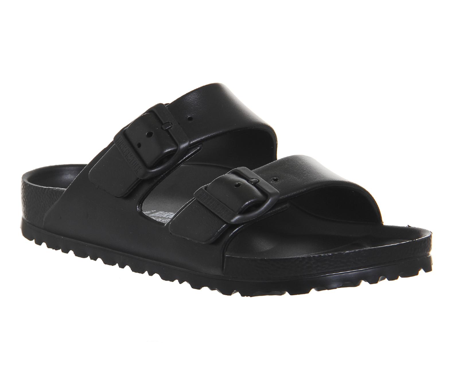 0e142a5e80b6 Sentinel Womens Birkenstock Arizona Two Strap Sandals BLACK EVA Sandals