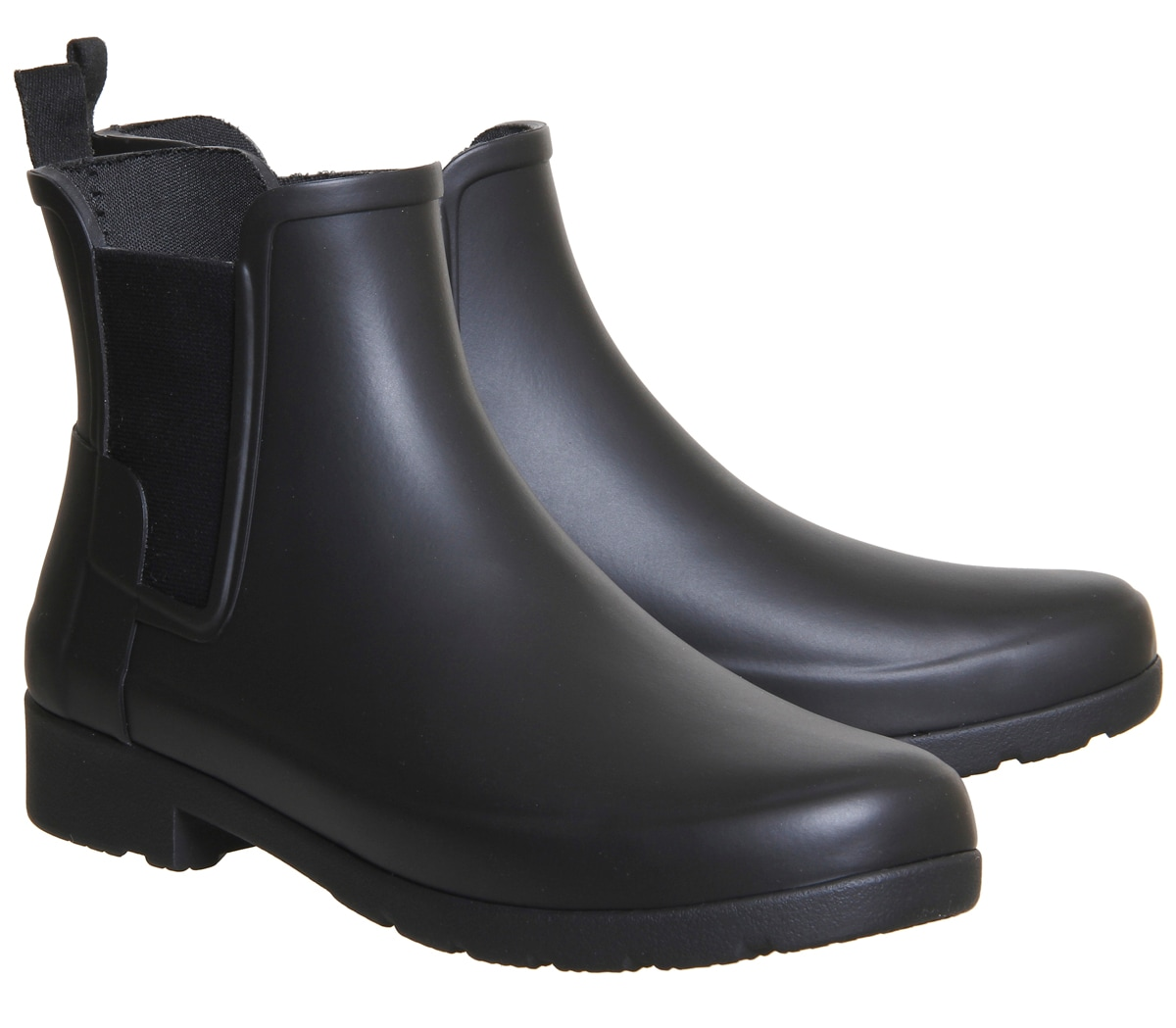 Brilliant Hunter Womenu0026#39;s Original Refined Chelsea Gloss Boots - Black | Country Attire