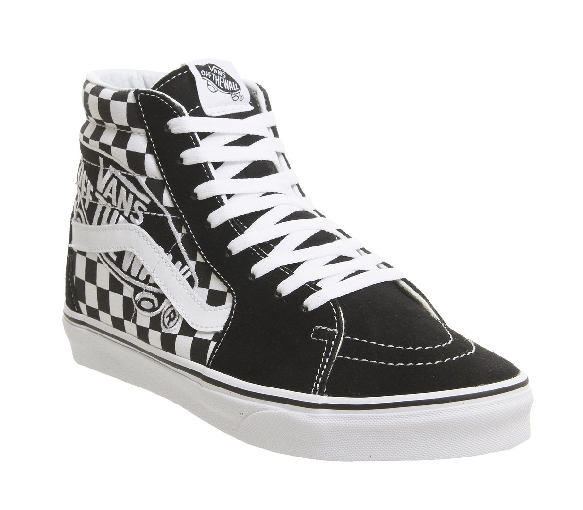 Herren Vans Sk8 Weiß Hi Trainers BLACK TRUE Weiß Sk8 VANS PATCH Trainers Schuhes a137c7