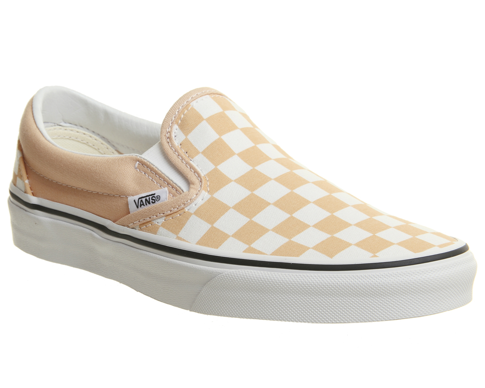 Sentinel Womens Vans Vans Classic Slip On Trainers Apricot True White  Trainers Shoes 14e56c9cf