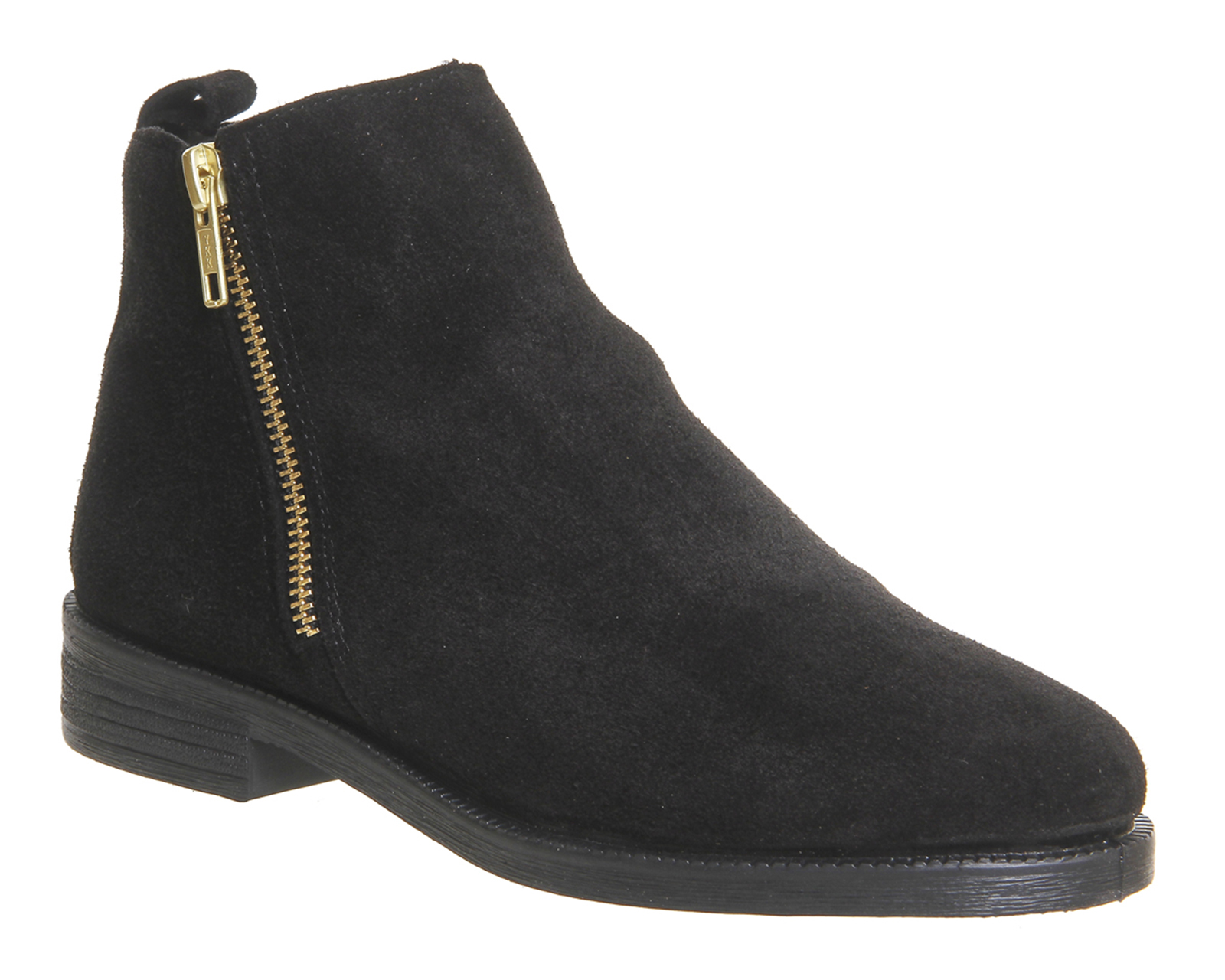 womens office lazy days flat boots black suede boots ex