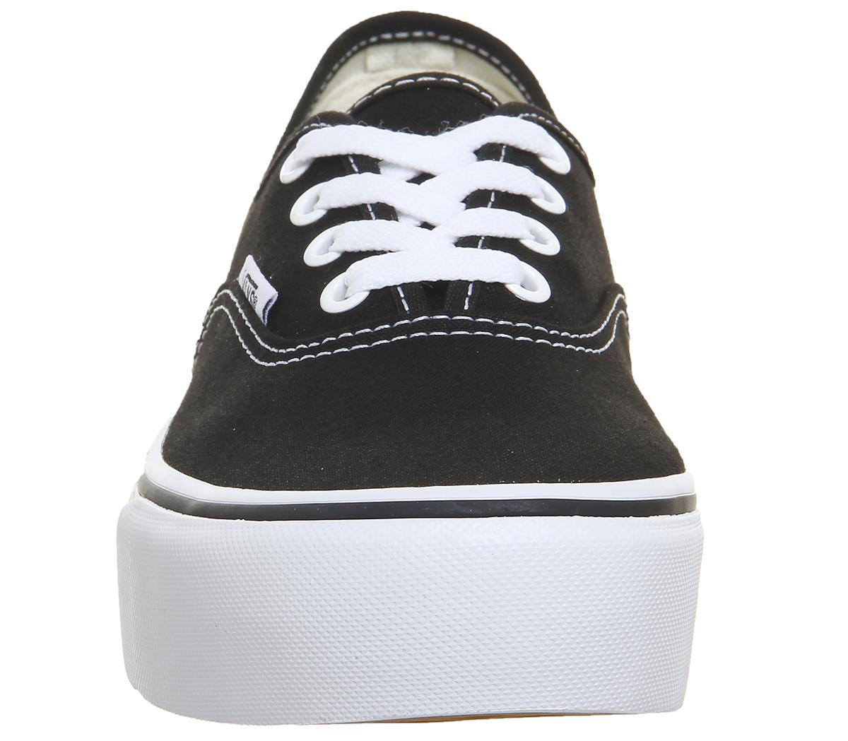 Damenschuhe Vans Schuhes Authentic Platforms BLACK Trainers Schuhes Vans 2e37cb