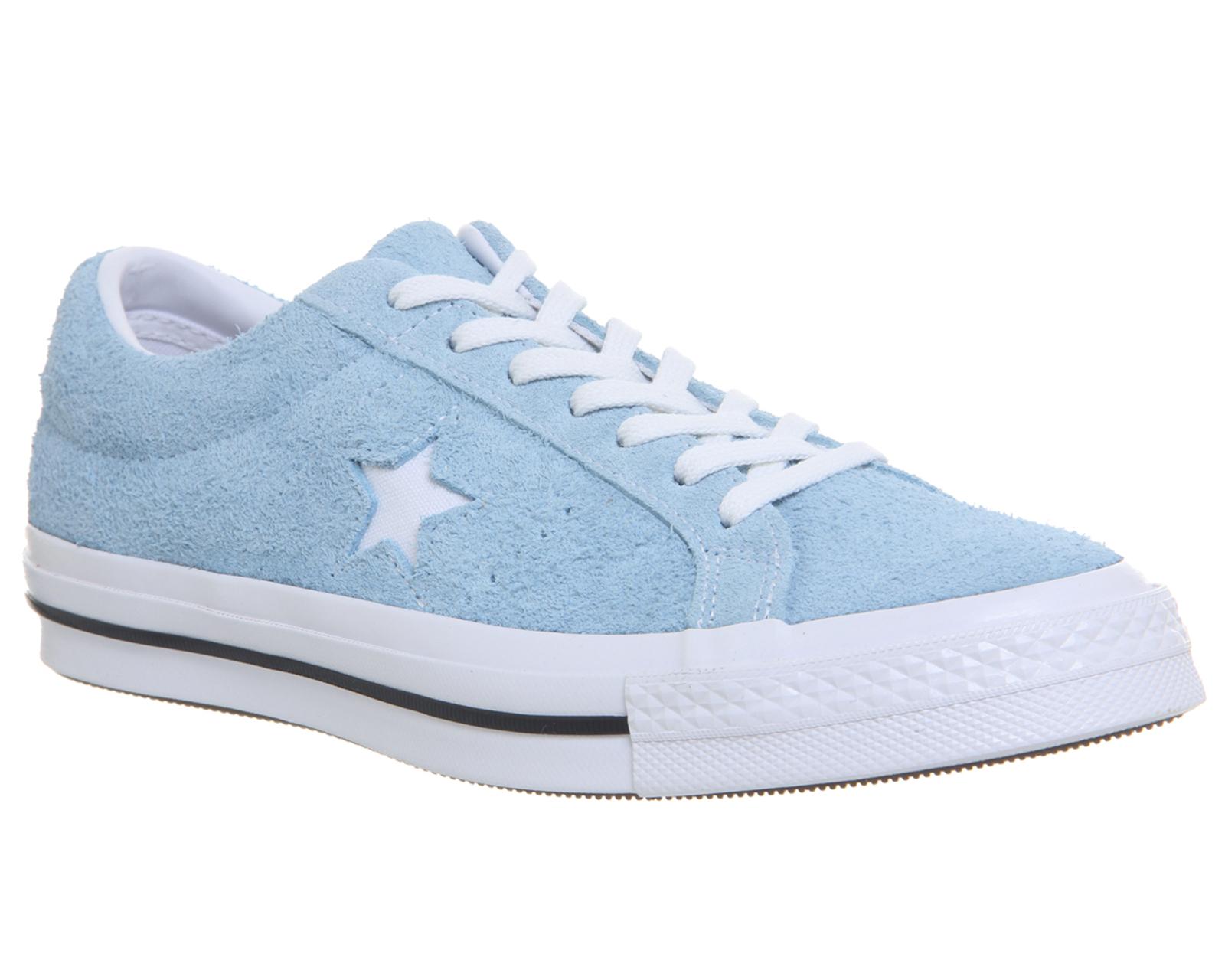 Womens Converse One Star Trainers Shoreline Blue White Trainers ... 09ec7d4cb7
