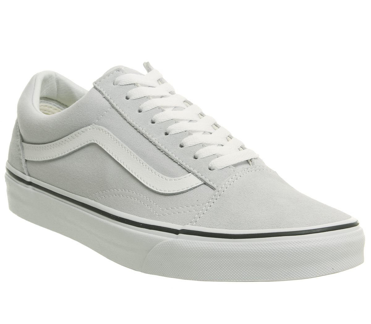 9eae374a1b Sentinel Thumbnail 1. Sentinel Mens Vans Old Skool Trainers Gray Dawn True  White Trainers Shoes