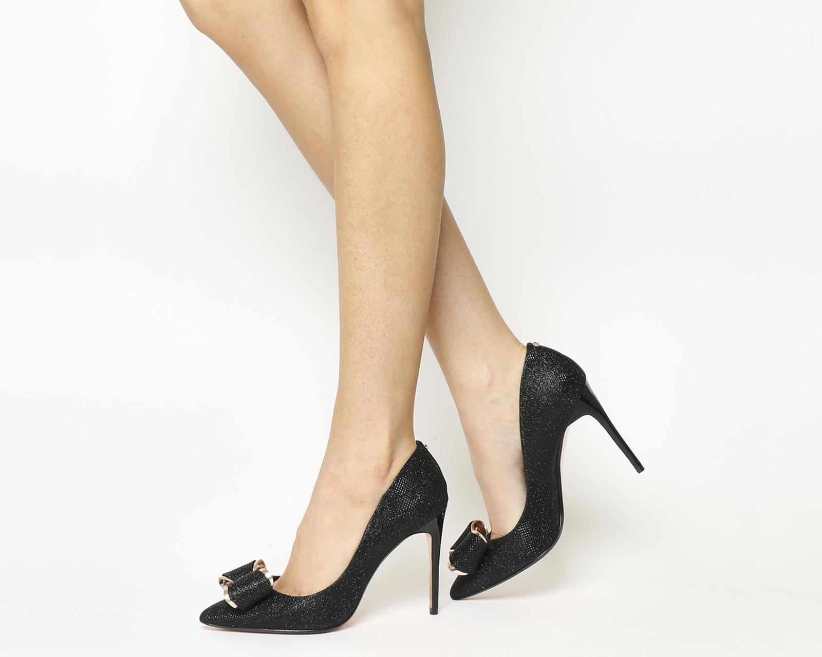 13b6472d55717 Sentinel Womens Ted Baker Azeline Heels BLACK TEXTILE Heels