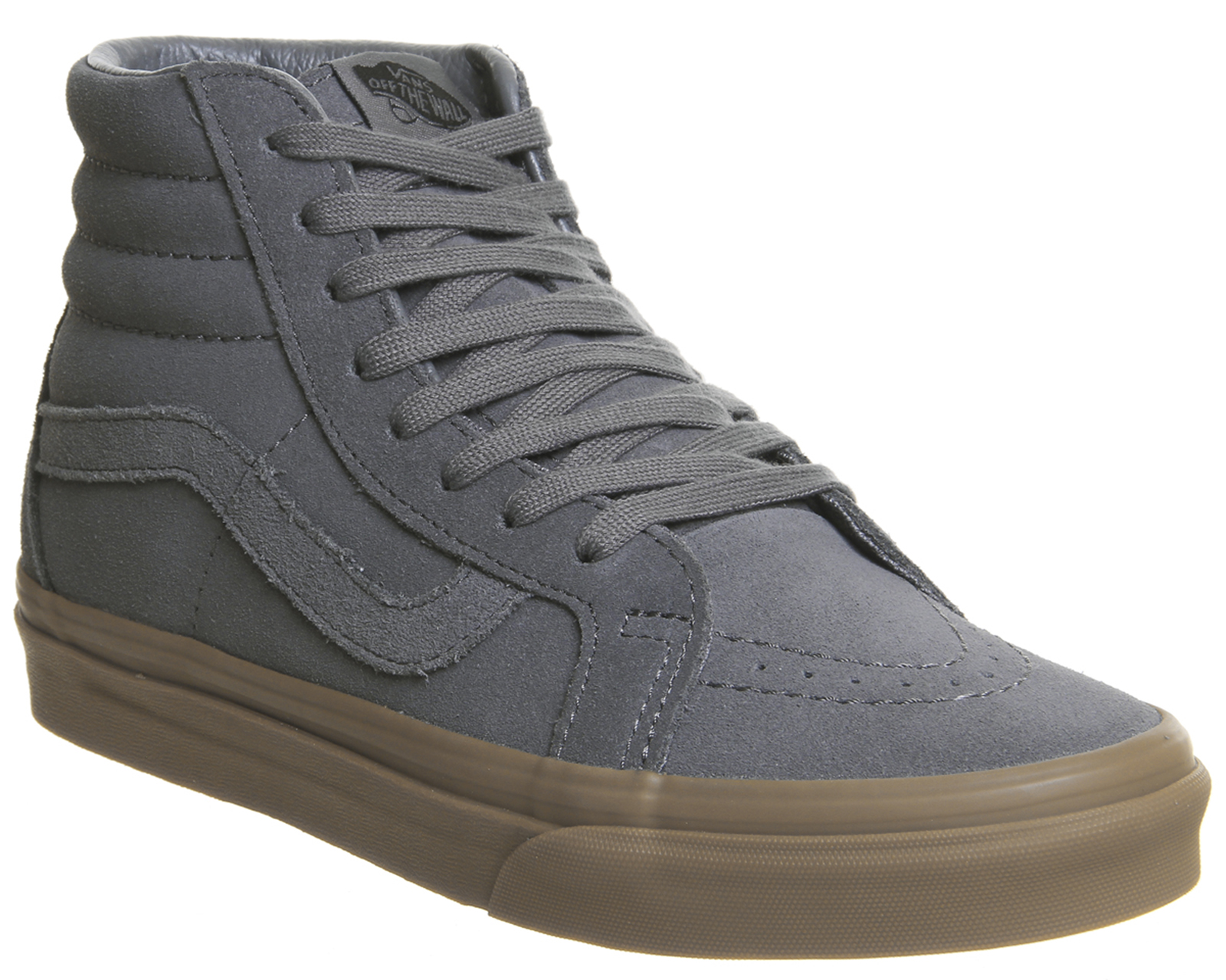 a21dad1ca2 Sentinel Mens Vans Sk8 Hi Trainers Grey Suede Gum Exclusive Trainers Shoes
