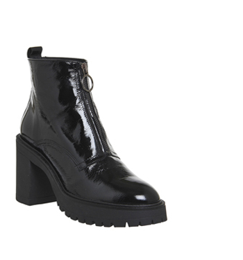 de061322703 Womens Office Live A Little Chunky Boots BLACK PATENT LEATHER Boots ...