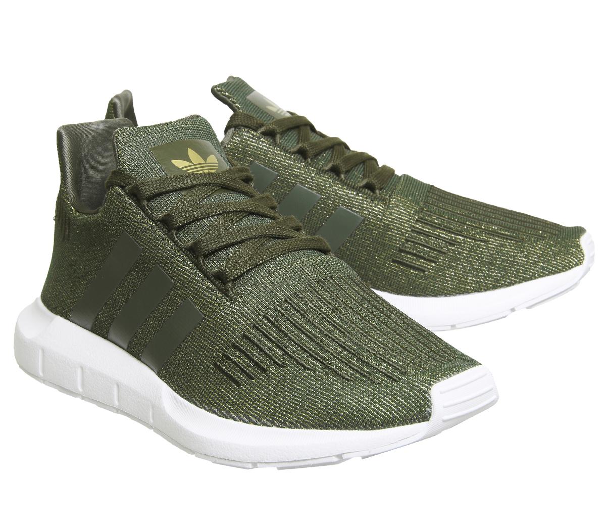 d1a1d6781c6131 Womens Adidas Swift Run NIGHT CARGO GLITTER Trainers Shoes
