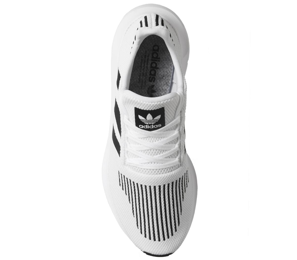 8eecf62933ed7 Adidas Swift Tenis Blanco Core Negro Gris Correr Tenis Zapatos