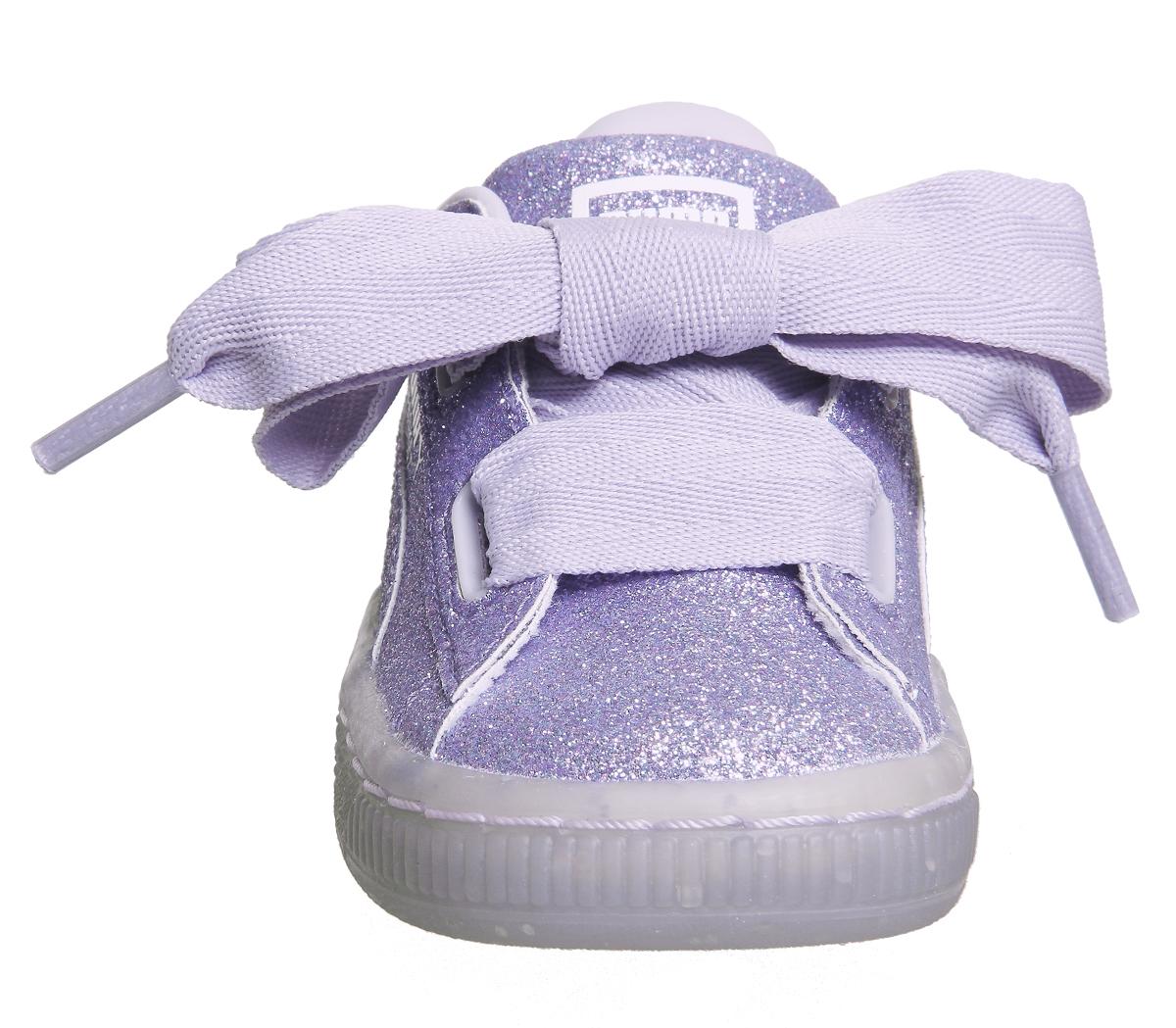 4b5399031e0b Sentinel Kids Puma Basket Heart Inf Thistle Glitter Exclusive Kids