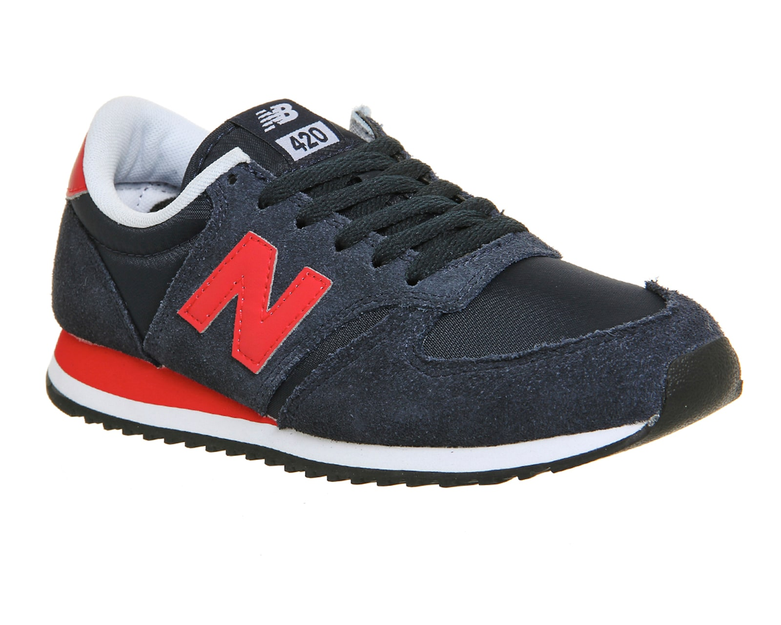mens new balance 420 navy red trainers shoes ebay. Black Bedroom Furniture Sets. Home Design Ideas