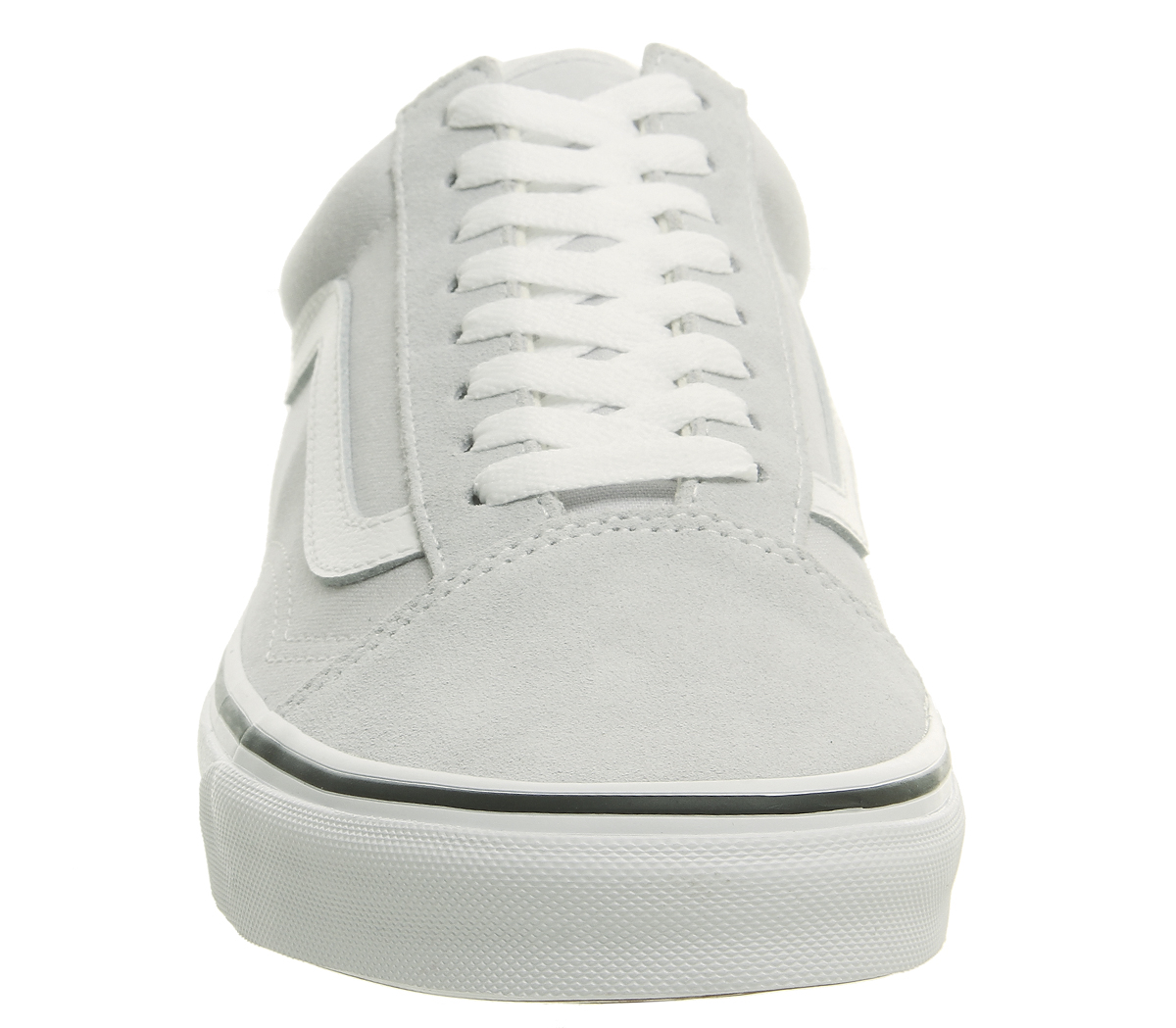 e309b2bd5 CENTINELA Hombres Vans Old Skool entrenadores gris amanecer verdadero  formadores blanco zapatos