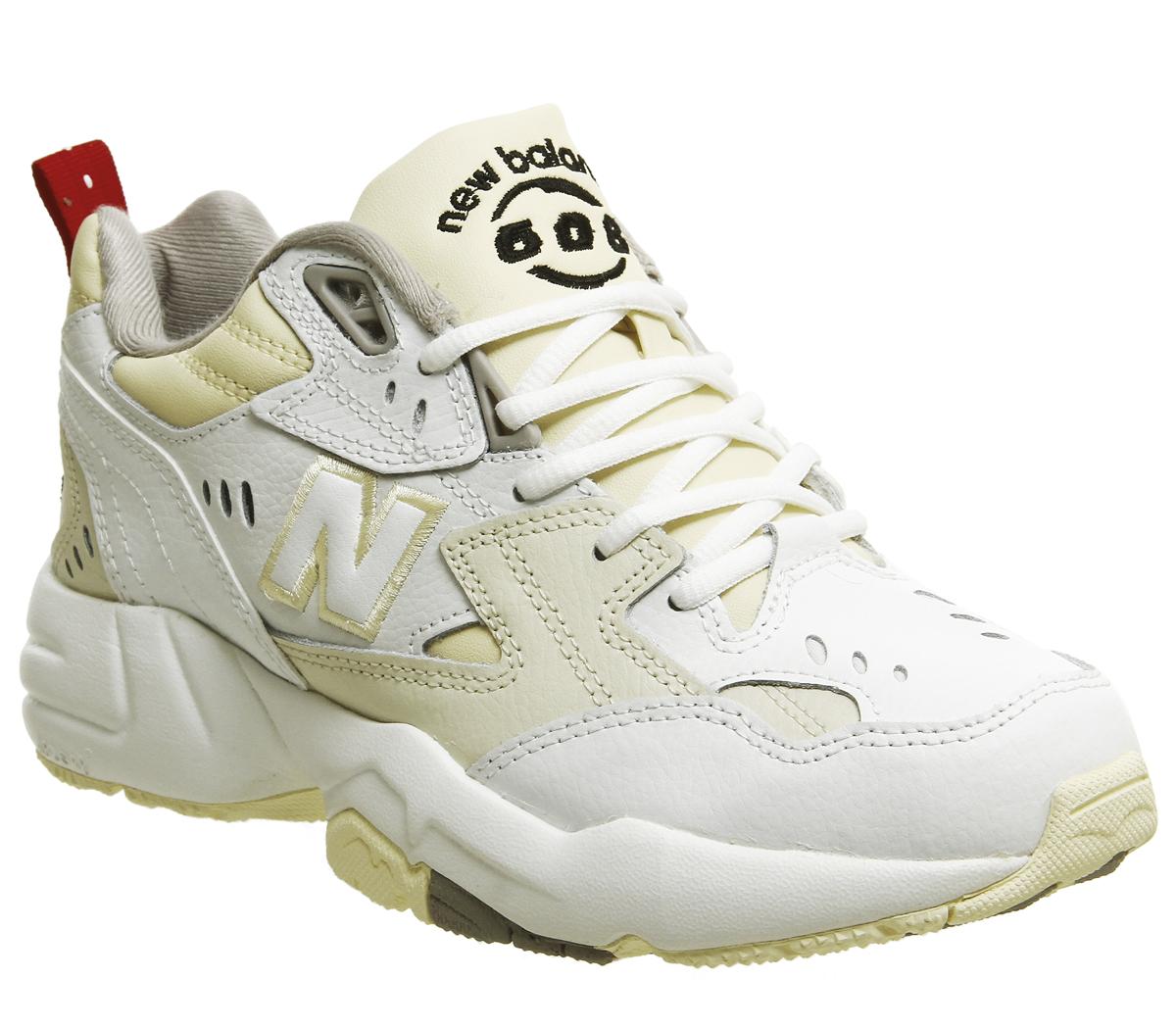 a499099d257 Dettagli su Donna New Balance 608 Scarpe Sportive Bianco Crema Scarpe da  Ginnastica