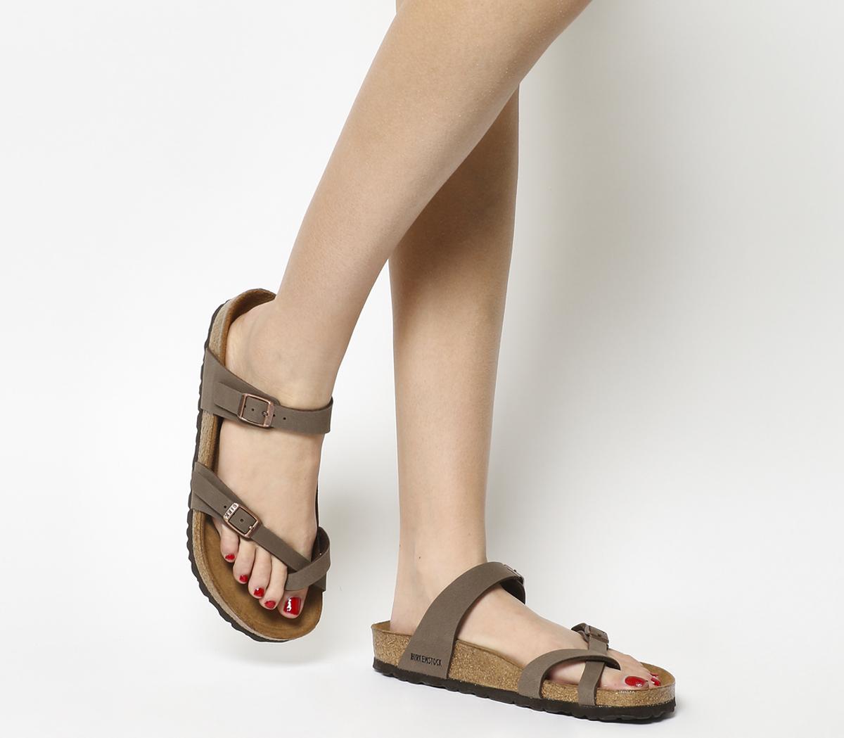 20f38272637 Sentinel Womens Birkenstock Mayari Cross Strap Sandals MOCHA Sandals