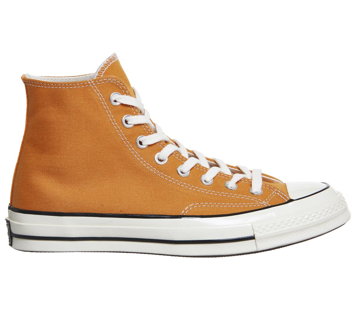 SENTINELLE Mens Converse All Star Hi années 70 formateurs TANGELO AIGRETTE  noire formateurs chaussures