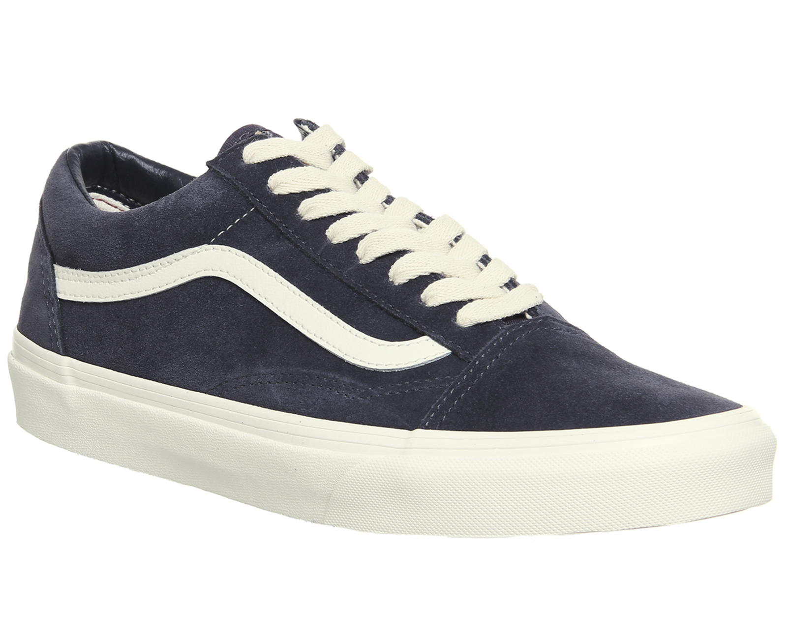 Details about Mens Vans Old Skool Trainers NAVY BLUE MARSHMALLOW Trainers Shoes
