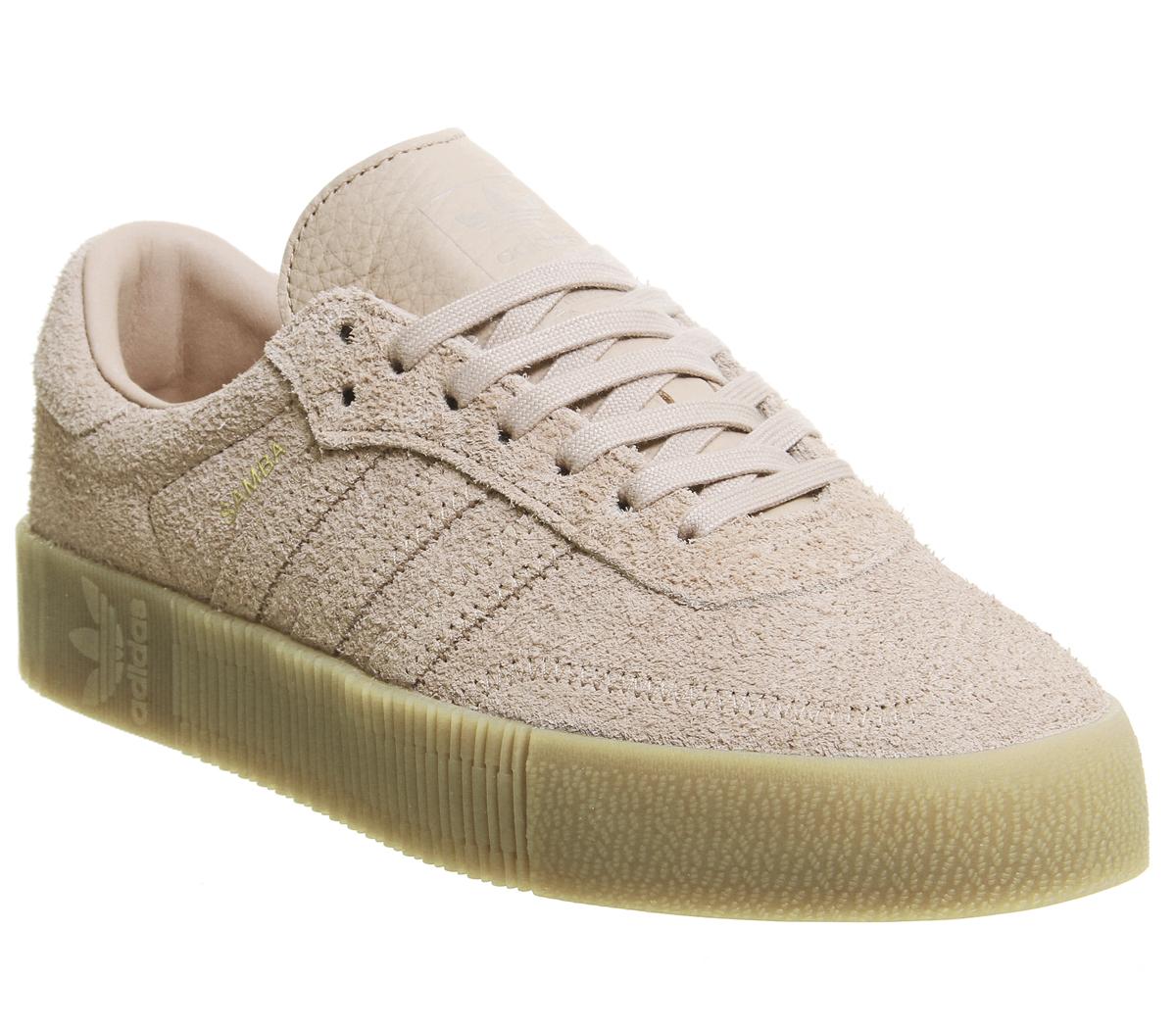 26acb14a8c1 Sentinel Womens Adidas Samba Rose Trainers Ash Pearl Gum Trainers Shoes