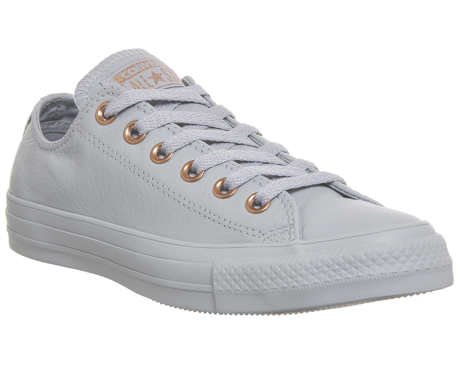 Sentinel Womens Converse All Star Low Leather WOLF GREY BLUSH GOLD  EXCLUSIVE Trainers Sho 137aa6506