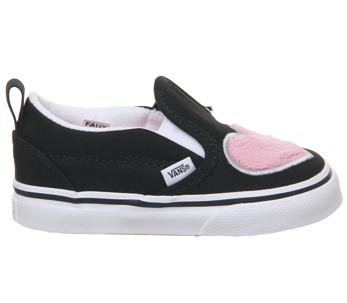 559e04230705 Kids Vans Classic Slip On Toddlers Trainers Strawberry Pink Black ...