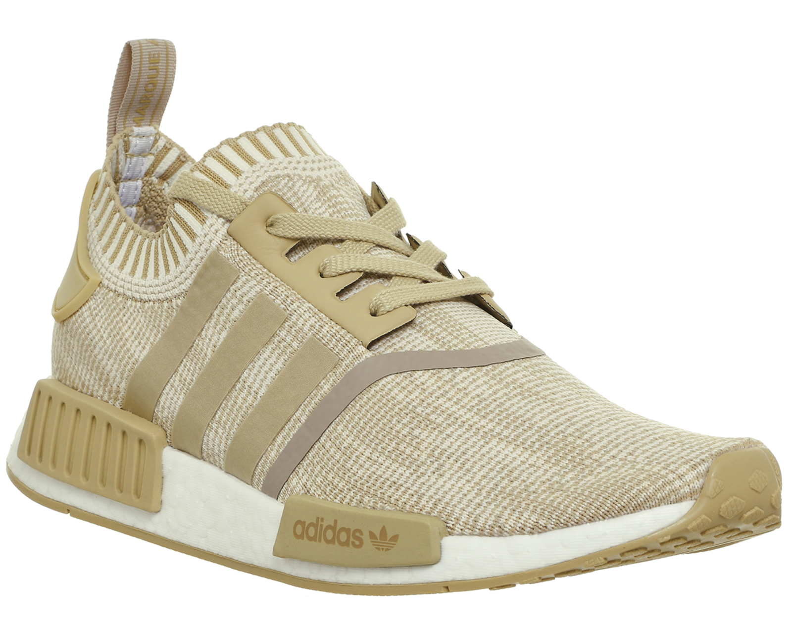 4b757b3a917 Sentinel Adidas Nmd R1 Prime Knit LINEN KHAKI OFF WHITE Trainers Shoes