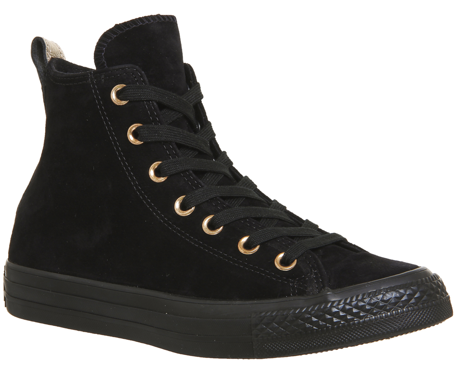 b449eb42d2 Sentinel Womens Converse All Star Hi Leather BLACK SUEDE METALLIC Trainers  Shoes