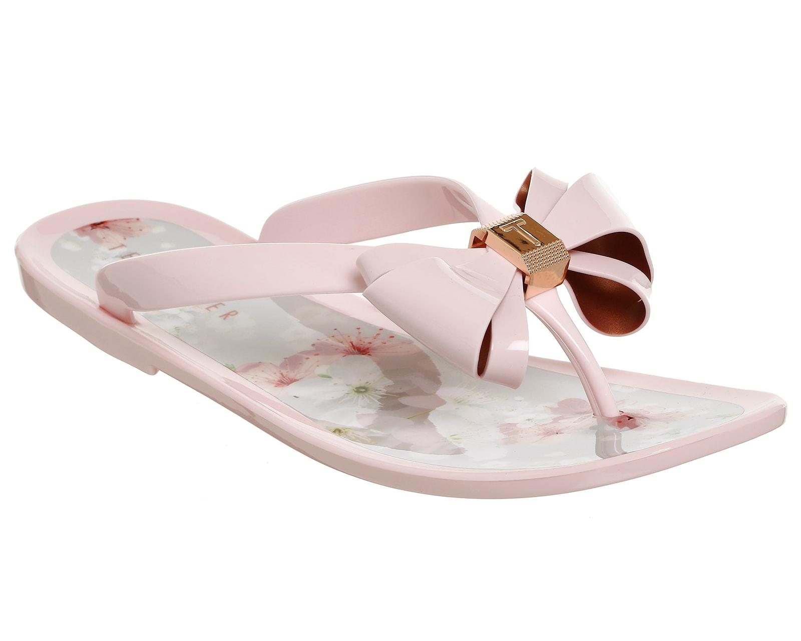 Ted Baker Rose Floral Bow Detail Flip Flop AUGuD