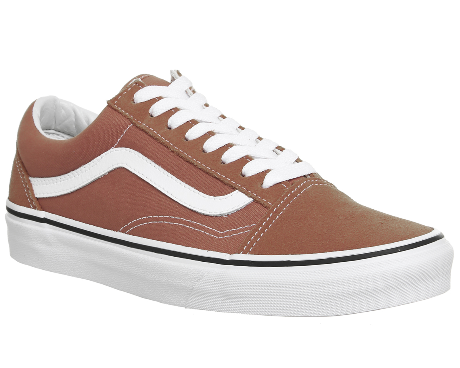 Sentinel Mens Vans Old Skool Trainers AUTUMN GLAZE WHITE Trainers Shoes ae4e00524