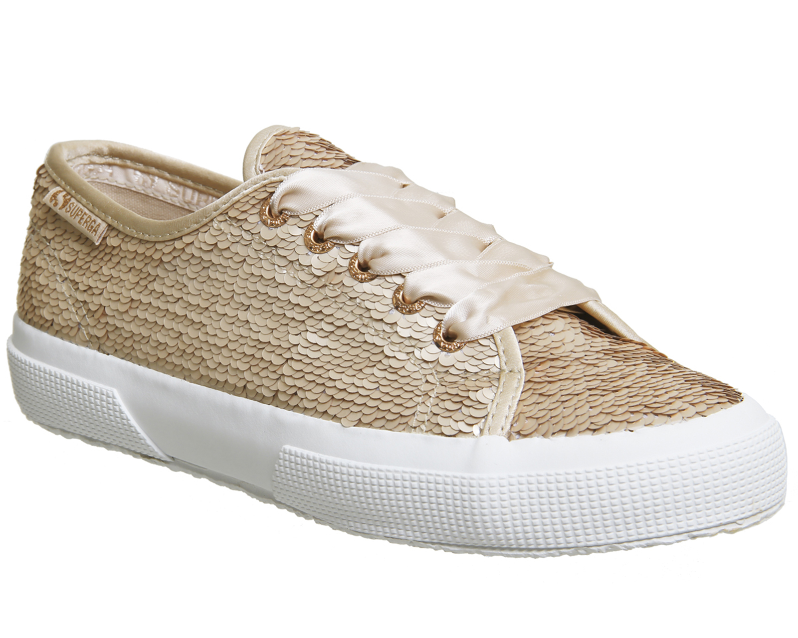 Sentinel Womens Superga 2750 Trainers ROSE GOLD MATTE ROSE SEQUIN Trainers  Shoes 27988f7899