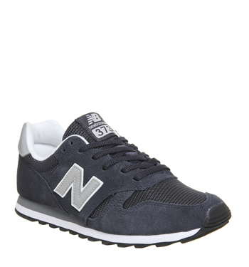 new balance 373 trainers black silver