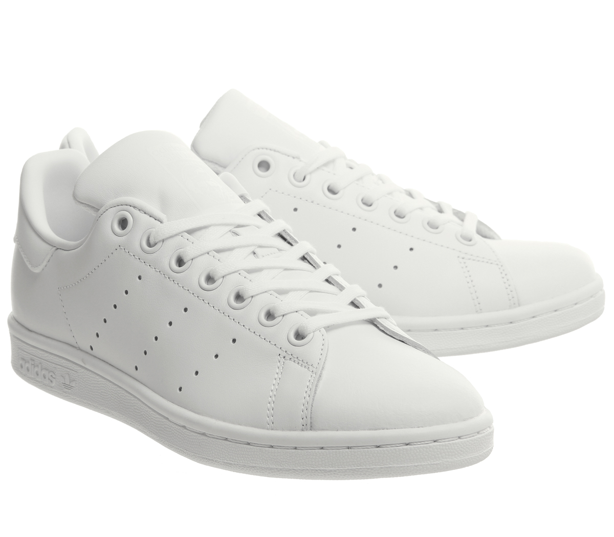 the latest 082a6 5f50e SENTINEL Bambini Adidas Stan Smith GS formatori bianco MONO Kids