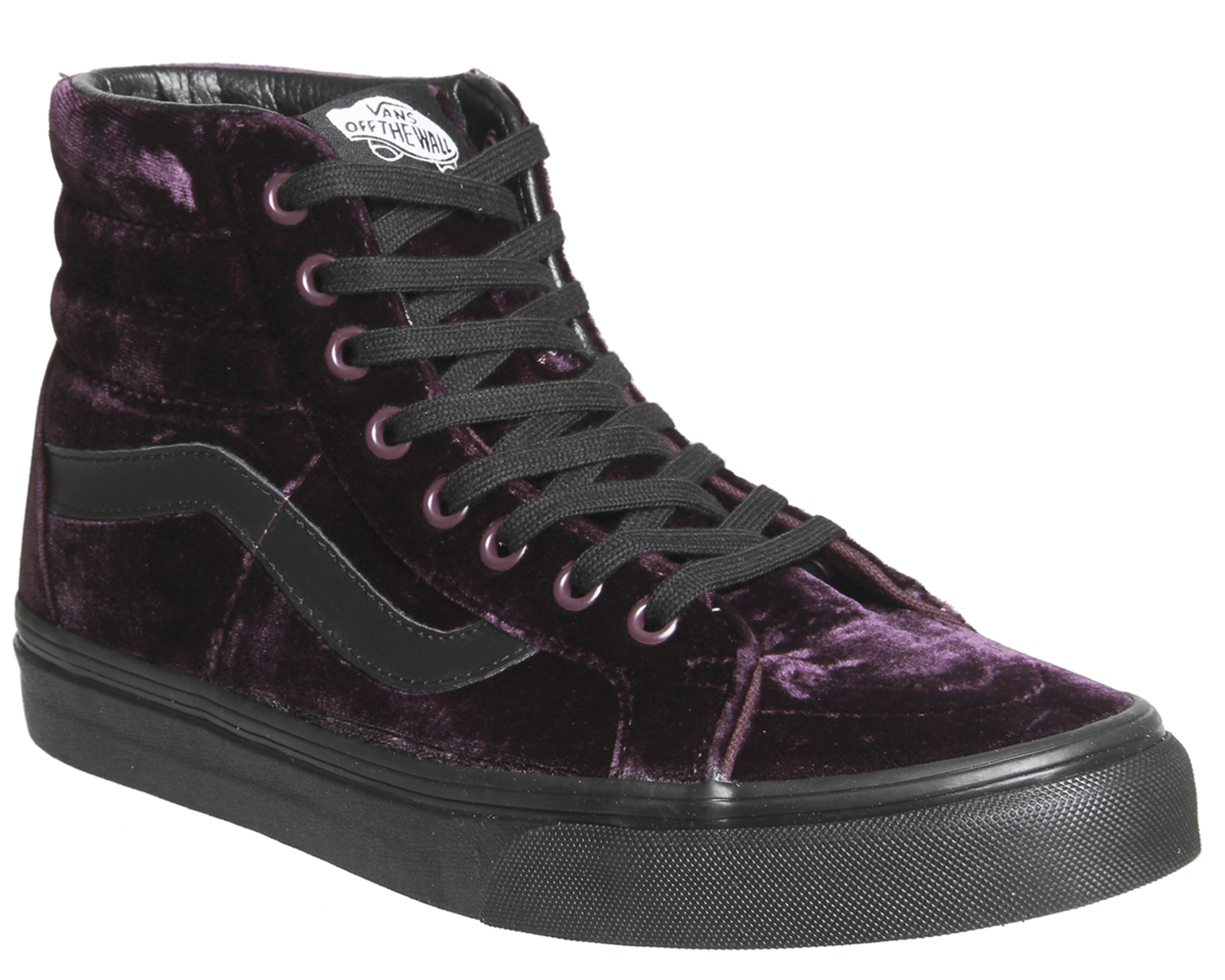 5d818912e4 Details about Womens Vans Sk8 Hi Reissue VELVET BURGUNDY BLACK Trainers  Shoes