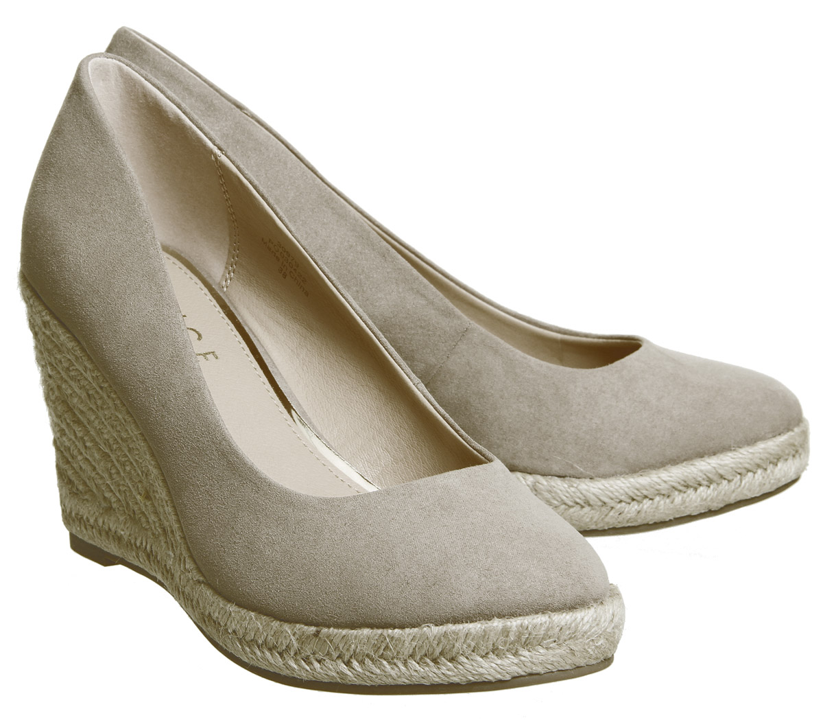 d100a793ace Sentinel Womens Office Marbella Closed Toe Espadrilles Taupe Heels