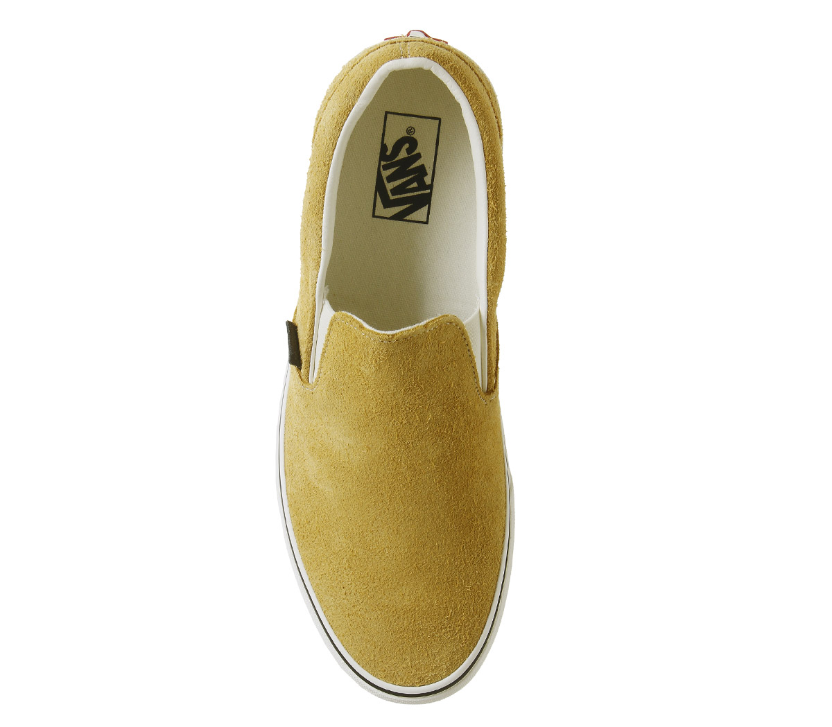 2f9df63269f Sentinel Vans Vans Classic Slip On Trainers Sunflower Snow White Hairy  Suede Trainers Sho