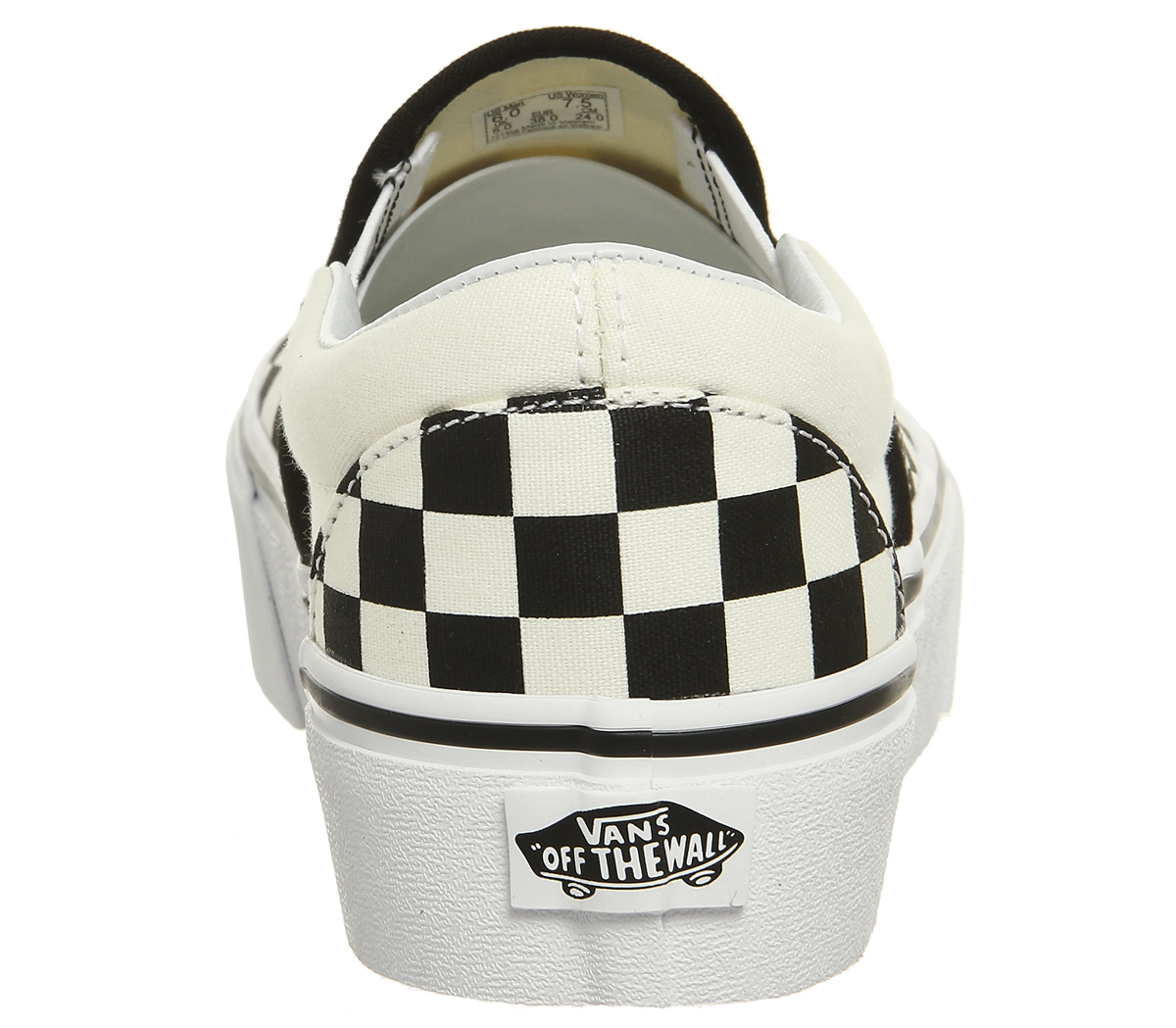 Damenschuhe Vans Classic Slip On Platform Trainers BLACK WEISS CHECKER Trainers Schuhes