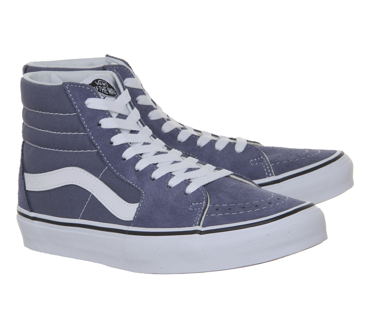 56192f35712 Womens Vans Sk8 Hi Trainers Grisaille True White Trainers Shoes
