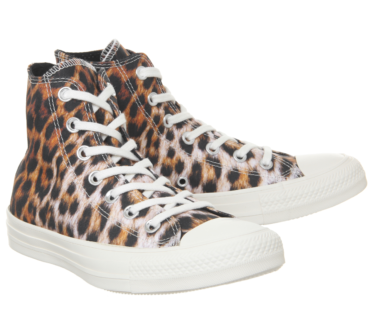 a124405a9d Womens Converse Converse All Star Hi Trainers Black Egret Leopard ...