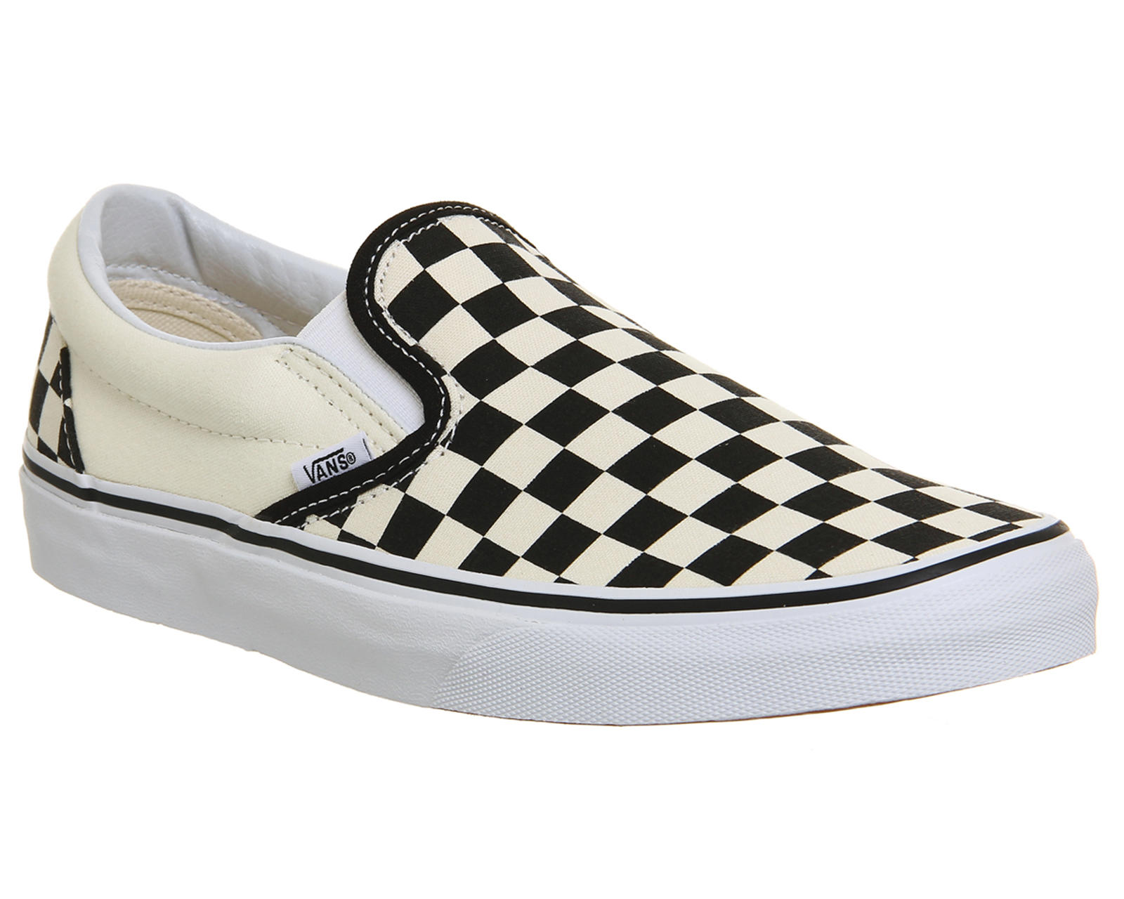 a587482a139c67 Sentinel Mens Vans Classic Slip On Trainers Black White Check Trainers Shoes
